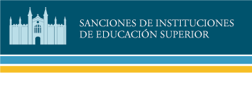 Sanci&oacuten de Instituciones de Educaci&oacuten Superior